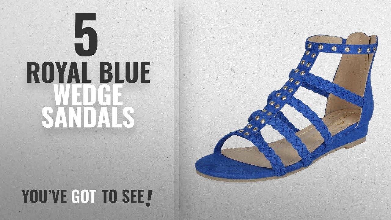 37be7103efb Top 5 Royal Blue Wedge Sandals  2018   DREAM PAIRS Women s Formosa 6 Royal  Blue Low Platform Wedges