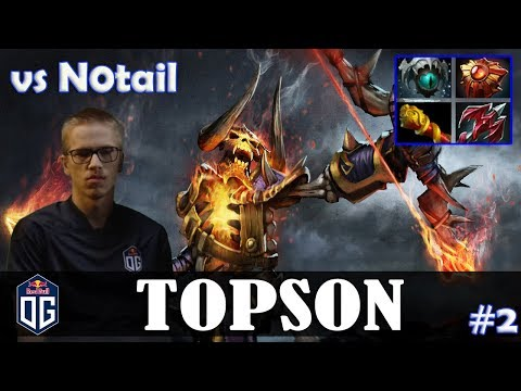 Topson - Clinkz MID | vs N0tail (IO) | Dota 2 Pro MMR Gameplay #2 thumbnail