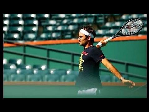Roger Federer - Indian Wells 2017 [ Practice ]