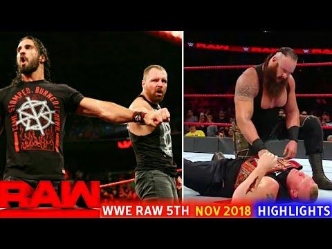 WWE Monday Night Raw 5th November 2018 Hindi Highlights Preview - Brock lesnar Attack Braun thumbnail