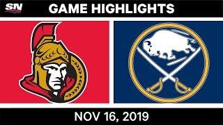 NHL Highlights   Senators vs Sabres - Nov. 16, 2019