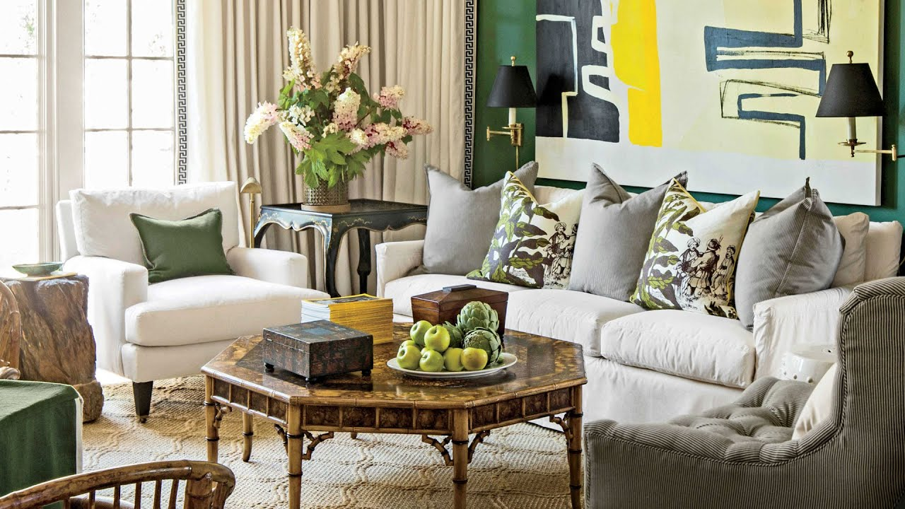 Southern Living Room Brilliant 2016 Idea House The Family Room  Southern Living  Youtube Decorating Design