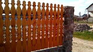 Деревянный забор своими руками! Как сделать забор? Идея деревянного забора для дачи.(Забор Ручной Работы Создатель и Воплотитель Гвозделюк Иван!, 2014-04-20T07:13:08.000Z)