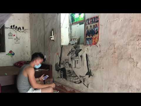 Vẽ tranh tường bằng màu nước ( bảo quản bằng gôm )