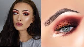 Extremely EXTRA Makeup Tutorial | Warm Half Cut Crease