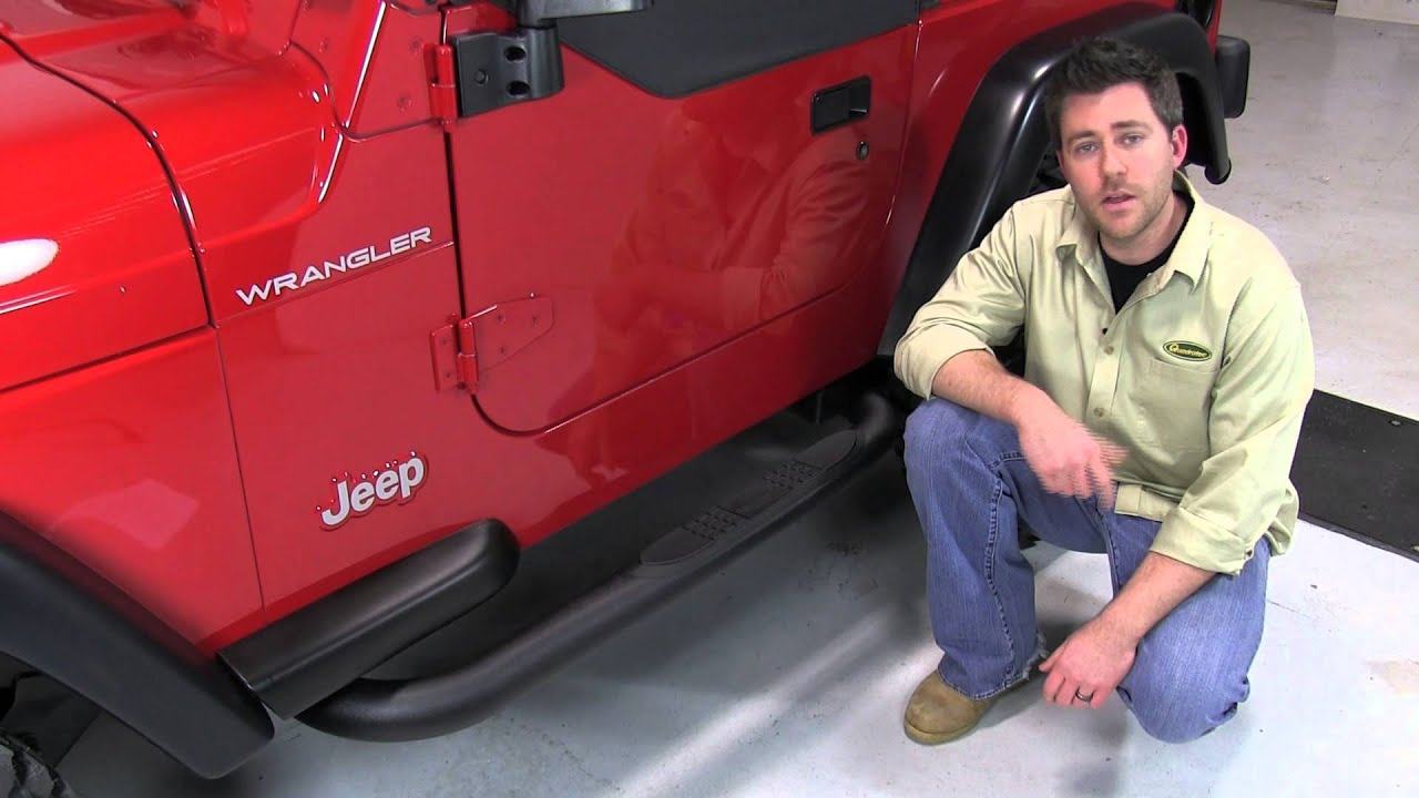 Steps For Jeep Wrangler >> Quadratec QR3 Side Steps for 87-06 Jeep Wrangler YJ And TJ - YouTube