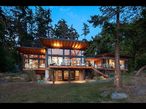 Contemporary house design surrounded by beautiful nature known as saturna island retreat