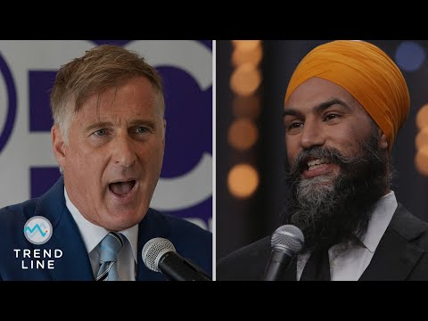 Support for Bernier, Singh could be a problem for O'Toole and Trudeau in close election | TREND LINE