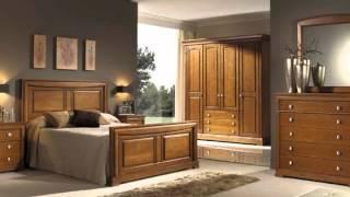 Dormitorios en madera con armarios mesitas y sinfonieres