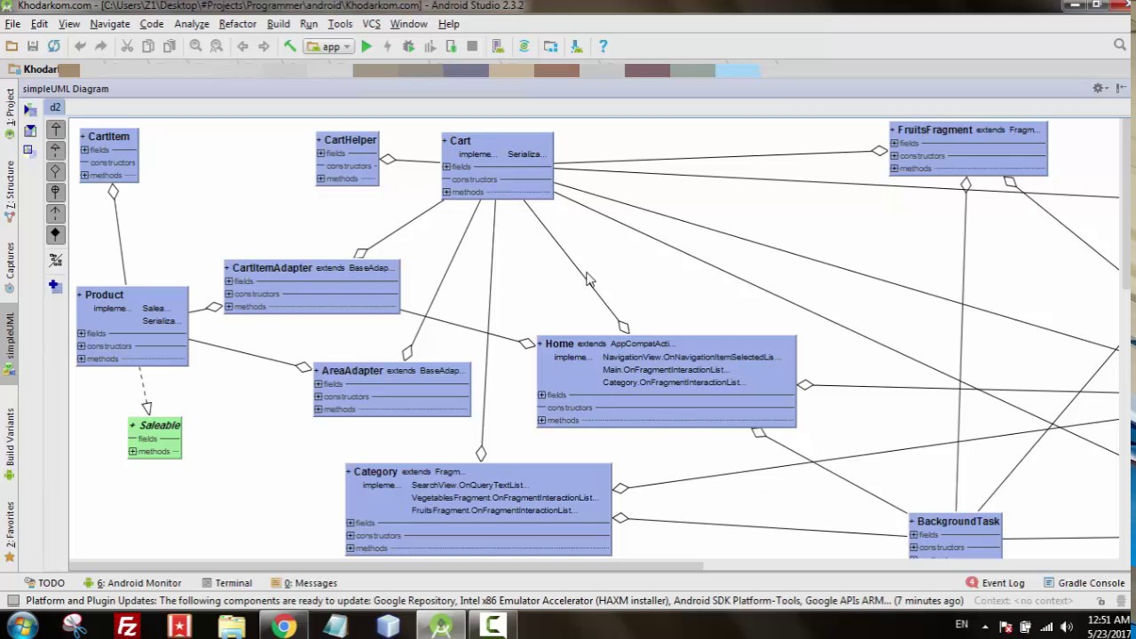 Class diagram in android studio class diagram in android studio ccuart
