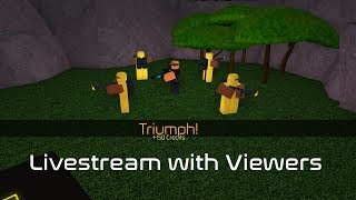Triumph with Viewers | Tower Battles [ROBLOX] (VIP Server link in Description)