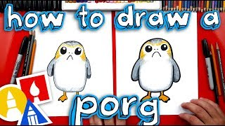 How To Draw A Porg From Star Wars + Spotlight