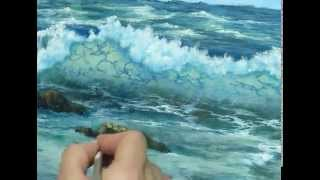 Seascape painting demo