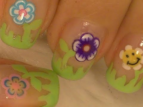 Super Easy Flowers Nail Art / Diseño Fácil de Flores Travel Video