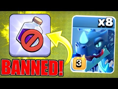 BANNED!! NO SPELLS ALLOWED AT TOWN HALL 12! - Clash Of Clans