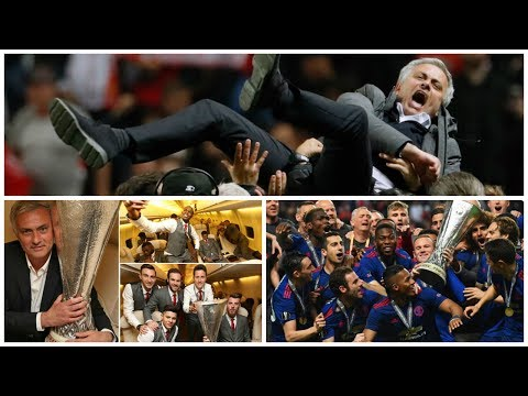 Manchester United Winning Europa League & Best Celebrations Ground to  Dressing Room |HD|
