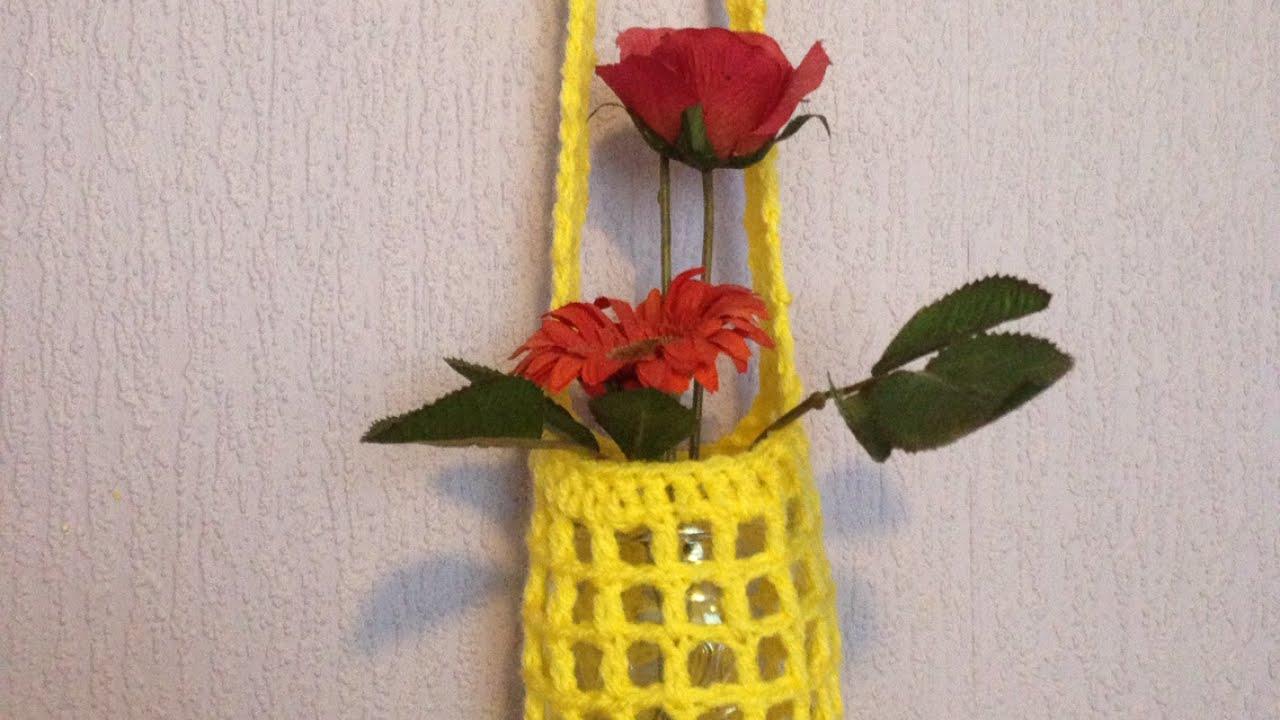Make A Crochet Flower Vase Hanger Diy Home