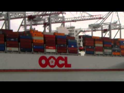 OOCL KOREA Container Ship berthed in Southampton