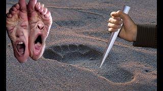 Kinh dị dùng đuôi cá đuối đâm vào dấu chân của kẻ thù sẽ bị thối rữa