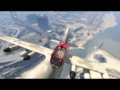 GTA 5 FLYING FIRE TRUCK!!!!!!!!!!
