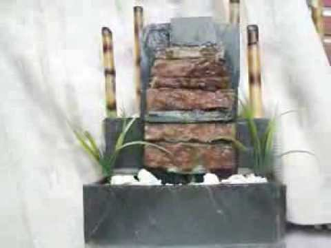 Cascadas de agua estanques fuentes de agua pared de agua a e youtube - Fuentes de pared ...