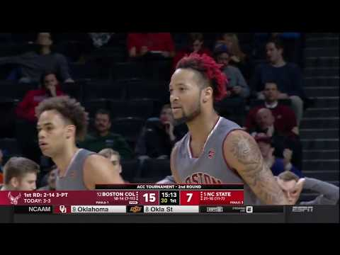 2018.03.07 Boston College Eagles vs NC State Wolfpack Basketball (ACCT)