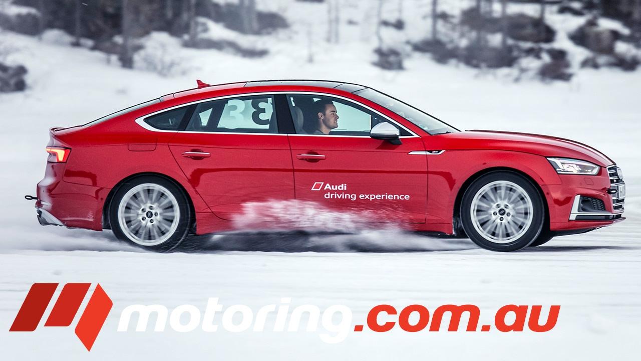 Audi RS5 Bi-Turbo Quattro 450 PS Testfahrt & Driften Sportwagen Drifting Sound Check soon E-tron GT