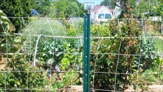 Setting Up A Nylon Garden Trellis