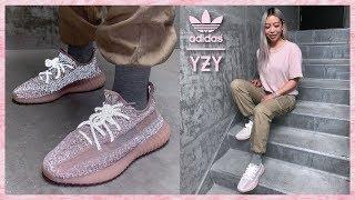 yeezy reflective pink