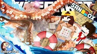해적 도잠! 대왕문어와 싸워 보물을 찾아라!! [마인크래프트 커스텀 커맨드: 크라켄] - Custom Command - [잠뜰]