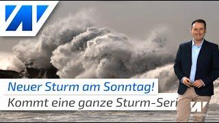 Orkanböen am Wochenende! Die Sturm-Serie geht weiter und weht uns frühlingshafte 18 Grad ins Land!