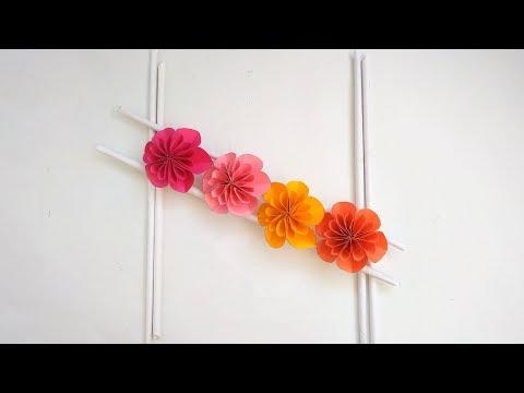 Paper Flower Wall Hanging   DIY Hanging Flower   Wall Decoration ideas   MinalCrafs