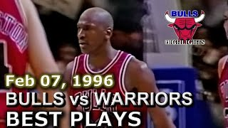 Feb 07 1996 Bulls vs Warriors highlights