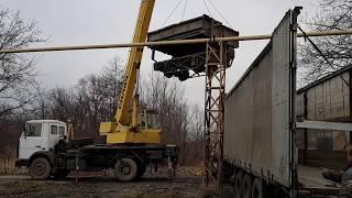 Перевозка мотововозов МД 54-4 в музей Коростов / Transportation of rail cars to the Korostiv museum