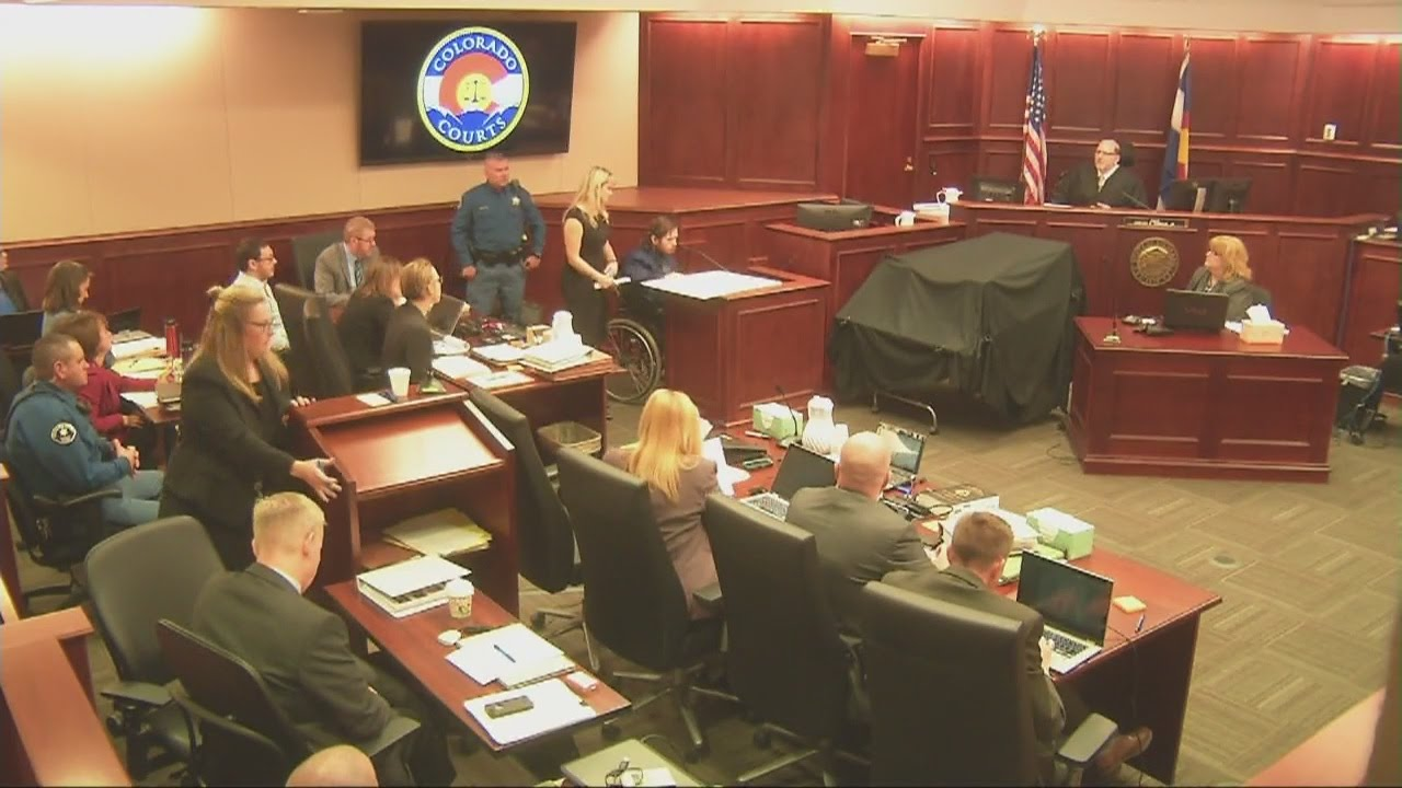 survivor caleb medley bravely takes the stand in the theater shooting trial youtube. Black Bedroom Furniture Sets. Home Design Ideas