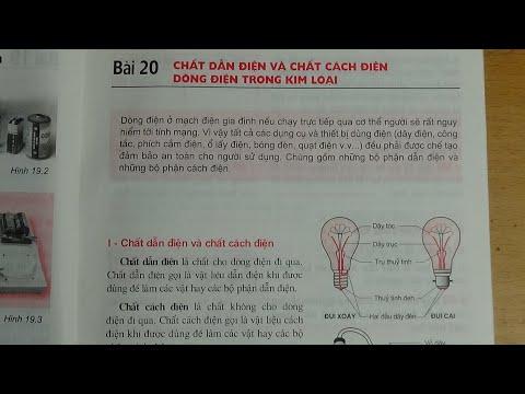[ Vật Lí 7 ] Bài 20 Chất dẫn điện và chất cách điện, dòng điện trong kim loại (SGK)