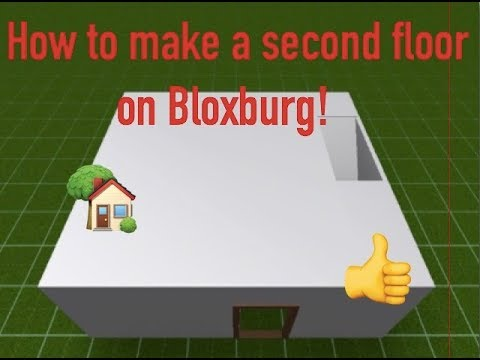 How to make a second floor on Bloxburg | Simplified (helpful)