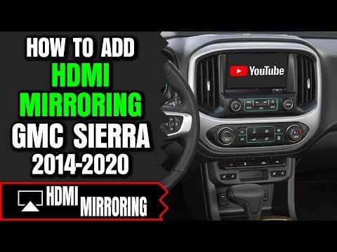 GMC Sierra Screen Mirroring - How To Add HDMI Smartphone Screen Mirroring  GMC Sierra 2014-2020 DVD