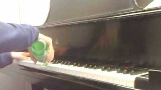 playing buy you a drink with a drink t pain piano cover by the napkin holder