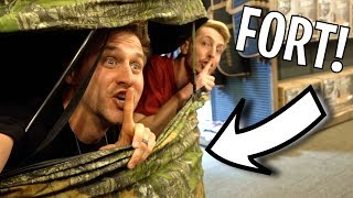 SECRET TENT FORT IN CABELAS!