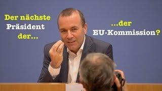 Manfred Weber (CSU) will EU-Kommissionspräsident werden - BPK 19. November 2018