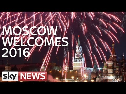 Moscow Welcomes 2016 With Delayed Fireworks Display