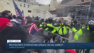 Protestor's step father speaks after his arrest