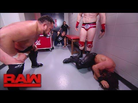 Samoa Joe, Sheamus and Cesaro brutalize Dean Ambrose in the trainer's room: Raw, Dec. 18, 2017