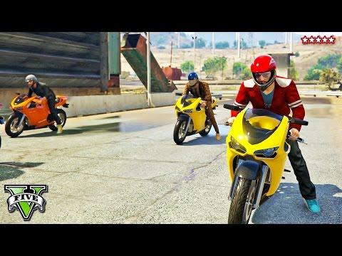 GTA 5 Online EPIC Bike Parkour Race (feat KwebbelKop)   Motorcycle Stunt Races   GTA 5 Funny Moments