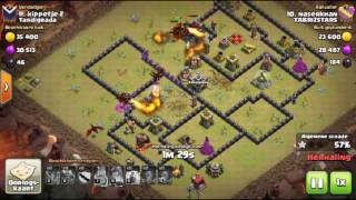 Clash of clans Th9 (Without Xbows) anti 3 star