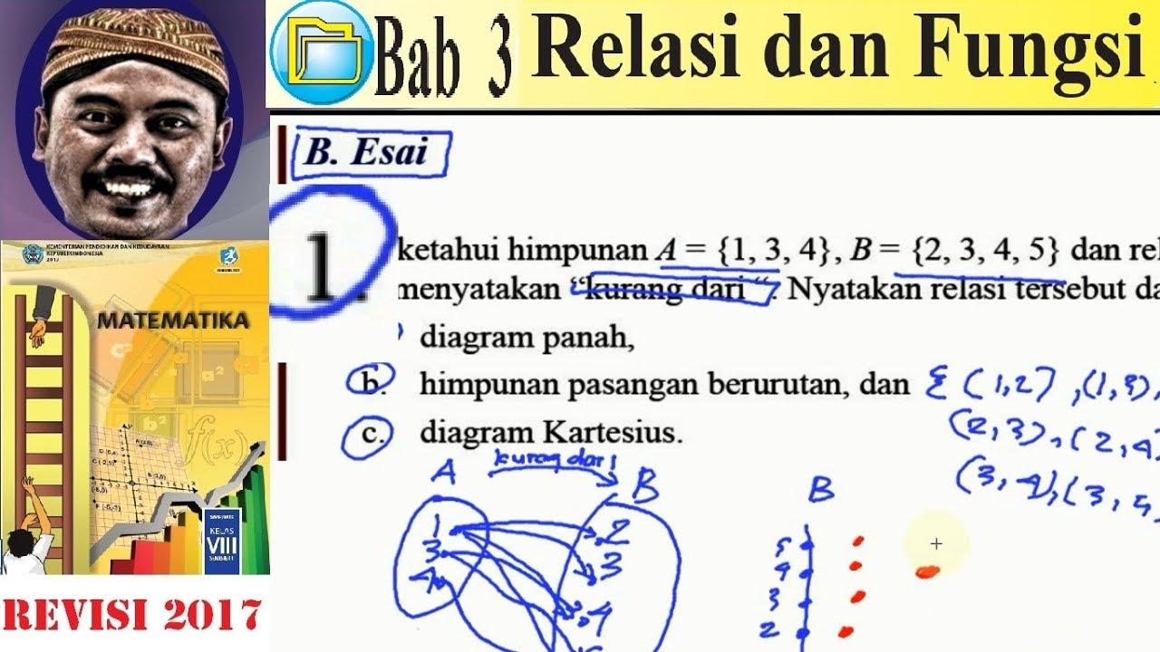 Relasi dan fungsi matematika kelas 8 bse k13 rev 2017 uk 3 esai relasi dan fungsi matematika kelas 8 bse k13 rev 2017 uk 3 esai no1 relasi ccuart Choice Image
