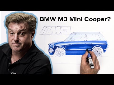 Classic Mini updated with BMW M3 styling | Chip Foose Draws a Car - Ep. 14