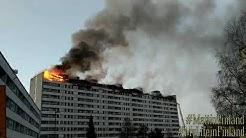 Keskuskartanossa Tulipalo Porissa Videokooste (Keskuskartano Apartment Building in Pori on Fire)
