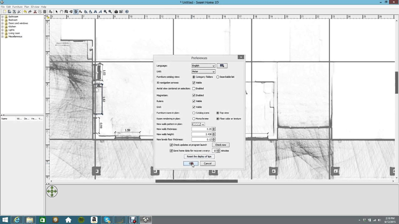 Zeb1 2d plans using sweet home 3d software youtube for 2d house design software